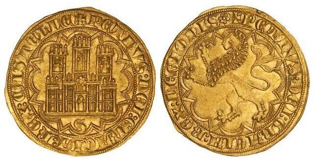 Dobla de 35 maravedis de Pedro I (Sevilla, 1350-1369). Gft11